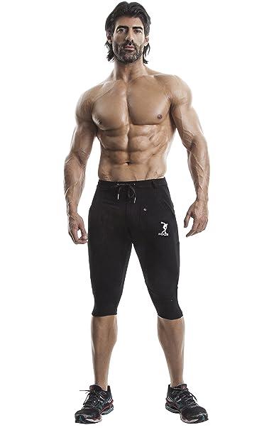 DEMIG Black Yoga Pants for Men Organic Stretch Cotton ...