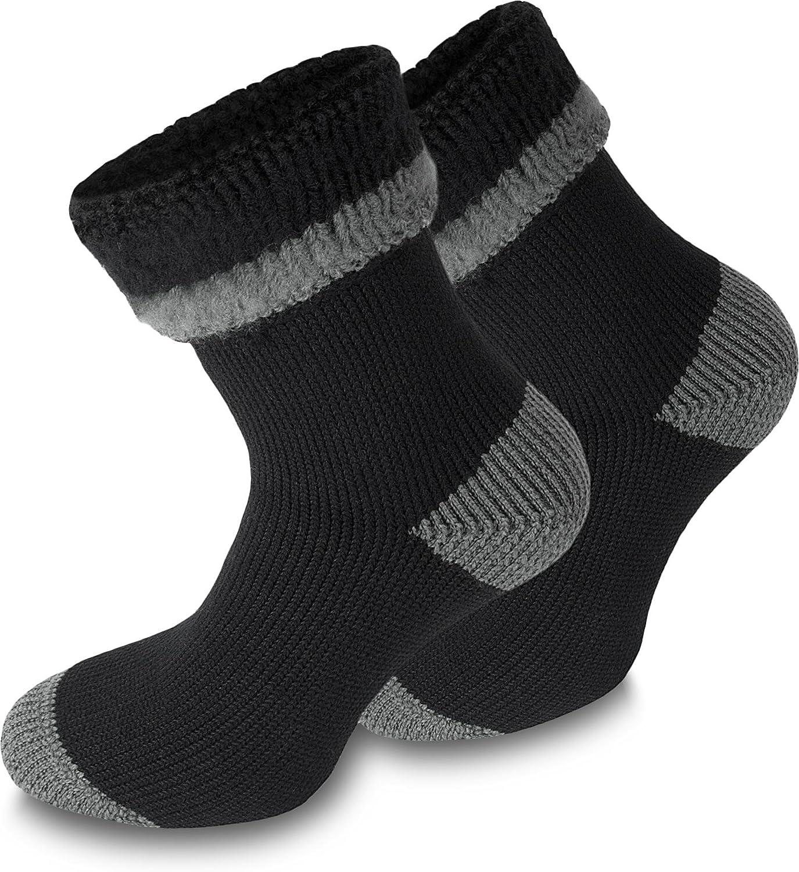 3 Paar Thermosocken Polar Husky® Socken. Super flauschige warme - Skisocken Farbe Extrem/Hot/Schwarz/Grau Größe 43/46