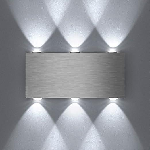 Unimall Luci Moderne Da Parete Led Interni Parte Anteriore Regolabile Per Corridoio Scale Soggiorno Camera Da Letto Bianco Freddo Amazon It Illuminazione