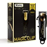 Wahl Professional 5-Star Limited Edition Black & Gold Cordless Magic Clip #8148-100 – Great for Barbers and Stylists…