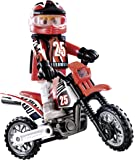 Playmobil Motocross Rider 9357 special plus Item City Action Set Driver Figur with Bike