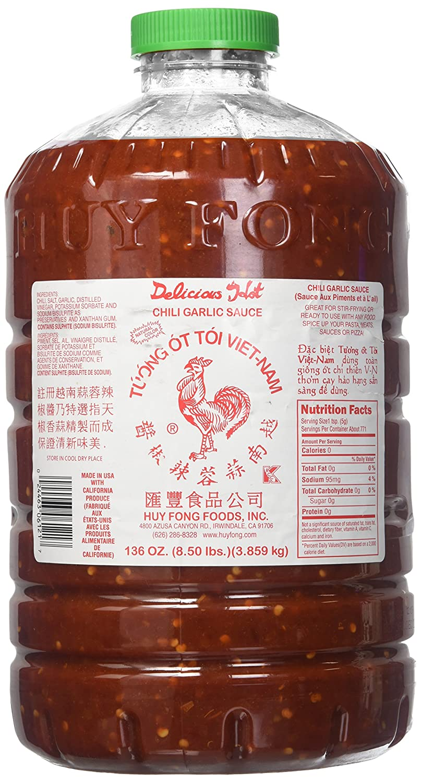 Huy Fong Chili Garlic Sauce, 8.50 Pound