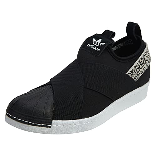 7c1ab43aca3 adidas Womens Originals Womens Superstar Slip-On Trainers in Black-White -  UK
