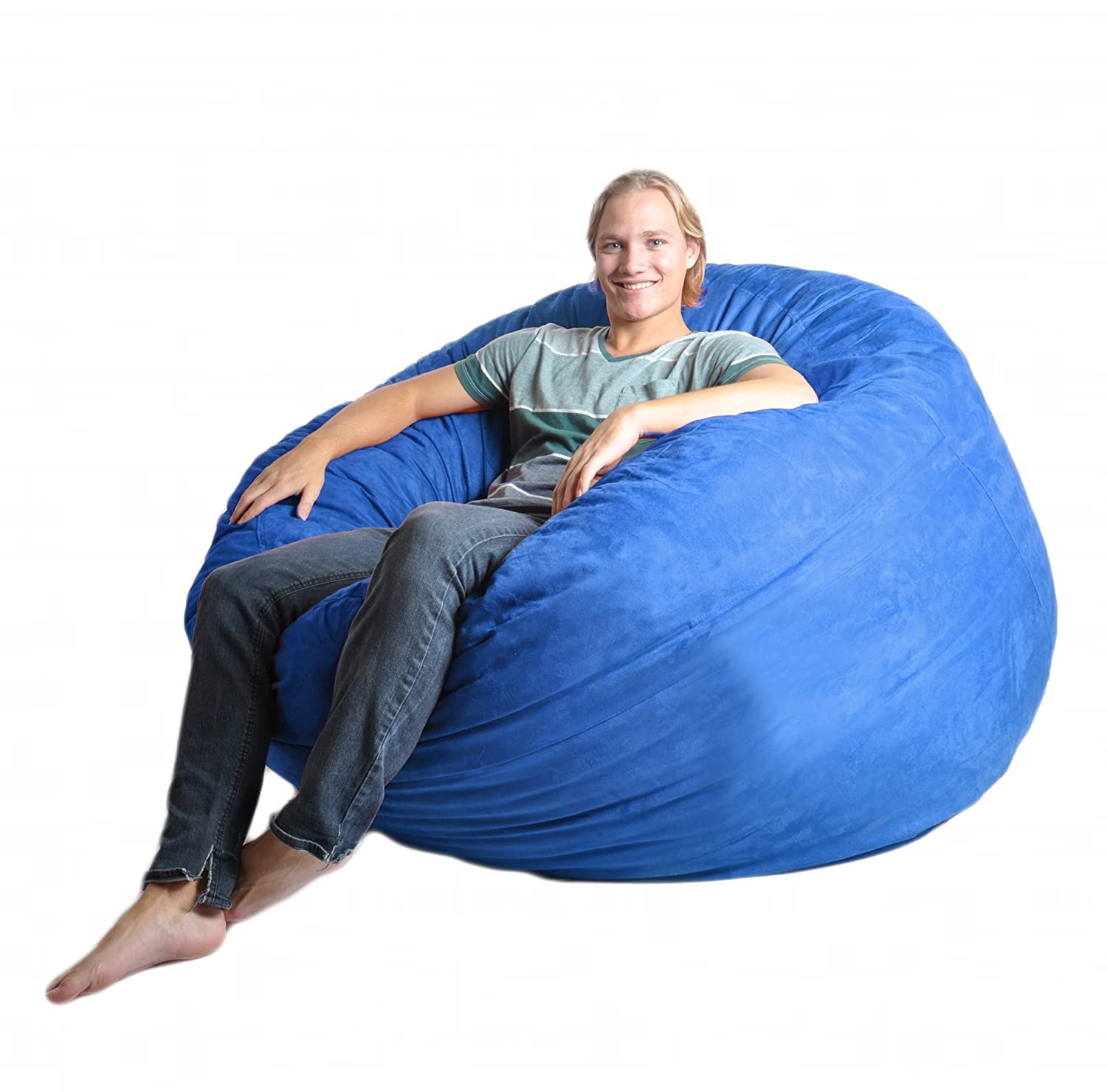 Amazoncom SLACKER sack 5Feet Foam Microsuede Beanbag Chair Large