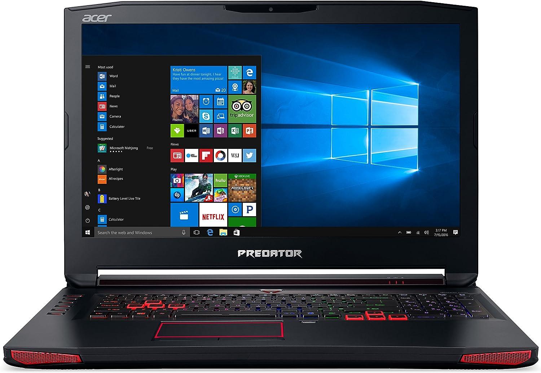 Amazon Com Acer Predator 17 Gaming Laptop Core I7 Geforce Gtx 1070 17 3 Full Hd G Sync 16gb Ddr4 256gb Ssd 1tb Hdd G9 793 79v5 Computers Accessories