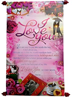 Love greeting cards for girlfriend love scroll greeting card saugat traders i love you message scroll card for husband boyfriend girlfriend wife m4hsunfo