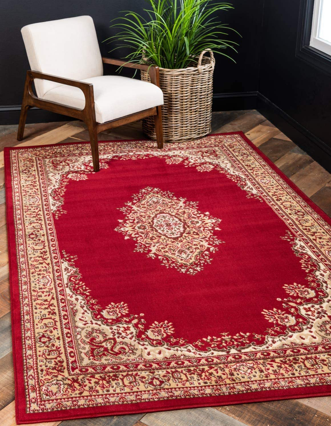 Unique Loom Reza Collection Classic Traditional Burgundy Area Rug 8 0 x 10 0
