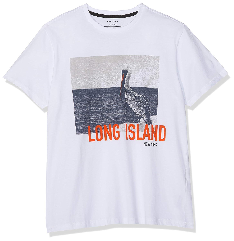 Cortefiel SP Frq Camiseta Pelicano Camiseta, Hombre, Blanco ...
