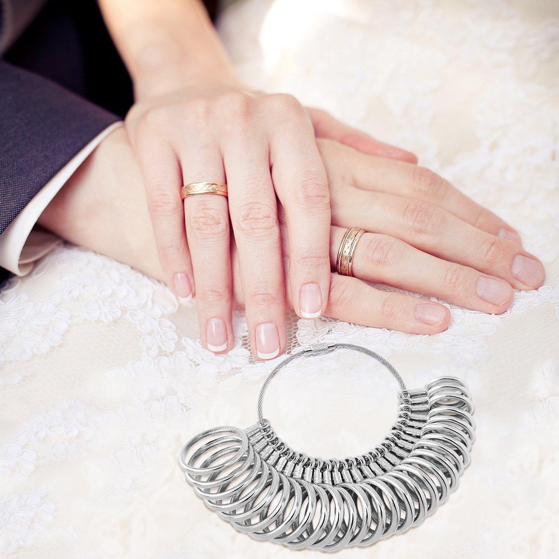 Amazon.com: Flexzion Ring Sizer Finger Sizing Measuring Jewelry ...