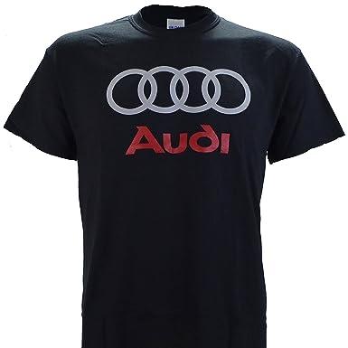 Amazoncom Audi Logo On A Black T Shirt Clothing - Audi logo