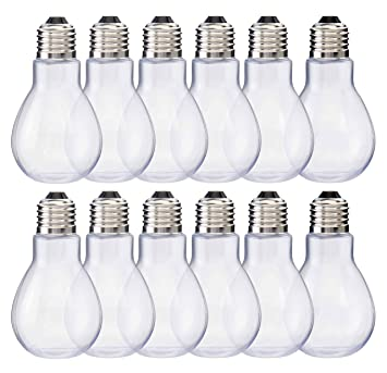 Amazoncom Home Collectives Fillable Light Bulb Containers 12 Pack