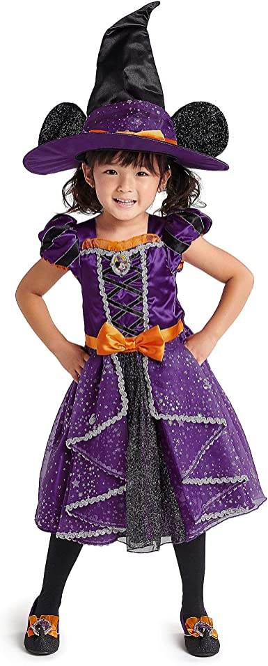 Amazon Com Disney Minnie Mouse Witch Costume For Kids Multi Clothing