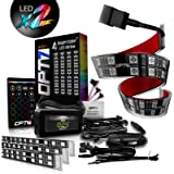 OPT7 Aura Interior Car Lights LED Strip Kit-16+ Smart-Color, Soundsync, Door Assist, Show Patterns, and Remote-Accent…