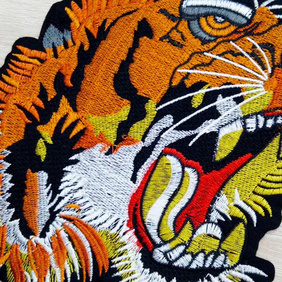 Parche bordado con cabeza de tigre para coser en la ropa, bolsa para camisa, pantalones vaqueros y motero: Amazon.es: Hogar