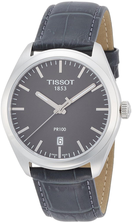 [ティソ] TISSOT 腕時計 PR100 クォーツ ガンメタル文字盤 レザー T1014101644100 メンズ 【正規輸入品】 B012IHYGR0