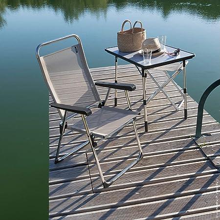 LFM1961-8558 Lafuma Table de Camping Pliante ALU Victoria Couleur: Carbon Batyline LFM1487-3631 /& Fauteuil de Camping Pliant Compact Couleur: Lac 80 x 57 cm /Étanche Fidji