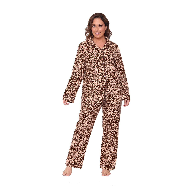 WM Plus Flannel Pajama Set