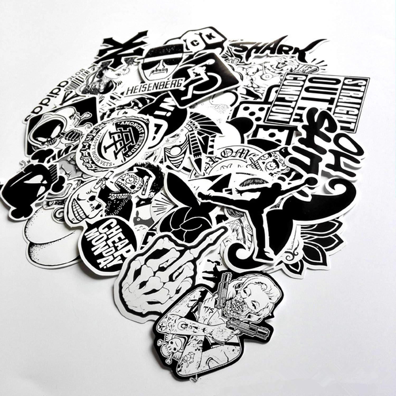 Pegatinas para Coche Portatil Guitarra Equipaje Bicicleta Skateboard Maleta Casco Moto Graffiti Stickers Eposeedor 50 Pegatinas Vinilo
