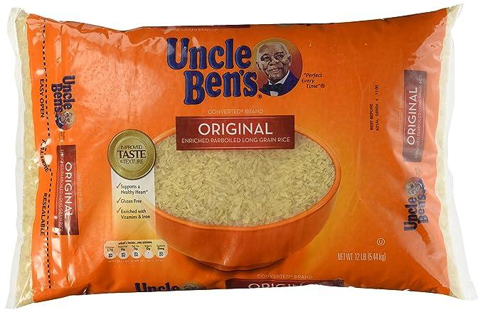 Uncle Ben Arroz de grano largo 12 libras Original de la ...