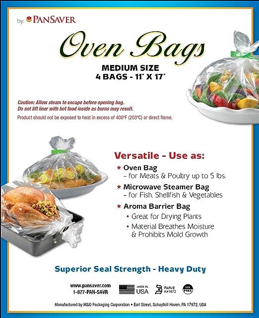 PanSaver horno bolsas 44025 mejor valor horno bolsa, 11 x 17 cm ...