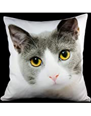 "Personalised Cushion Cover Printed Photo Gift Custom Made Large 37cm Print (16"" x 16"") Pet, Dog, Cat"