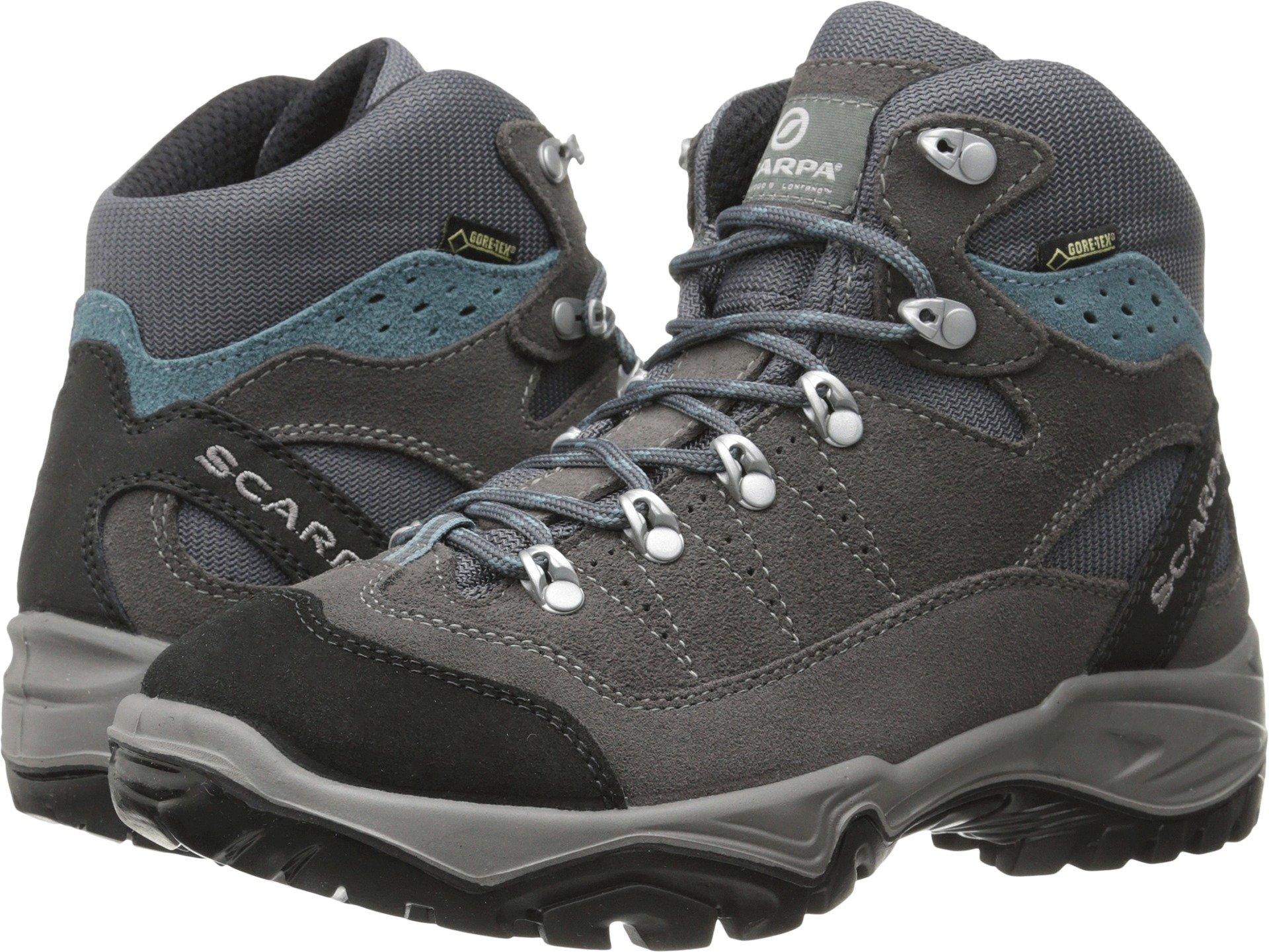 Scarpa Women's Mistral GTX Hiking Boot,Smoke/Polor Blue,41 EU/9 M US