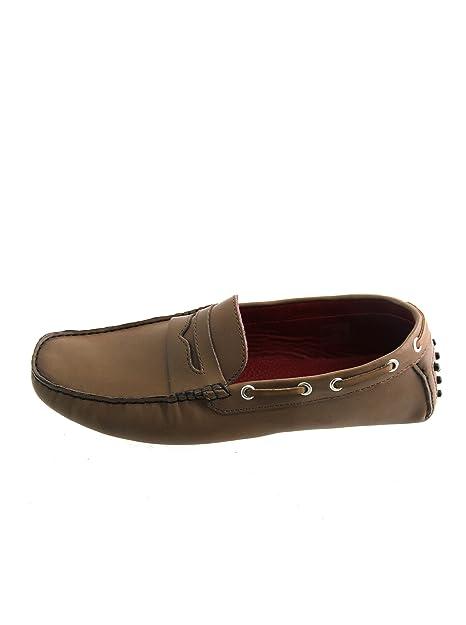 Pierre Cardin - Mocasines de Piel para Hombre marrón marrón Tabaco, Color marrón, Talla 42: Amazon.es: Zapatos y complementos