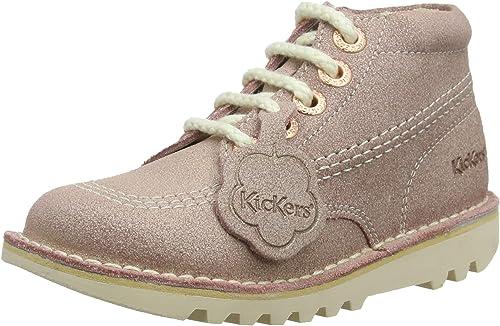 Kickers Kids//Infants Kick Hi Silver Boots//Shoes