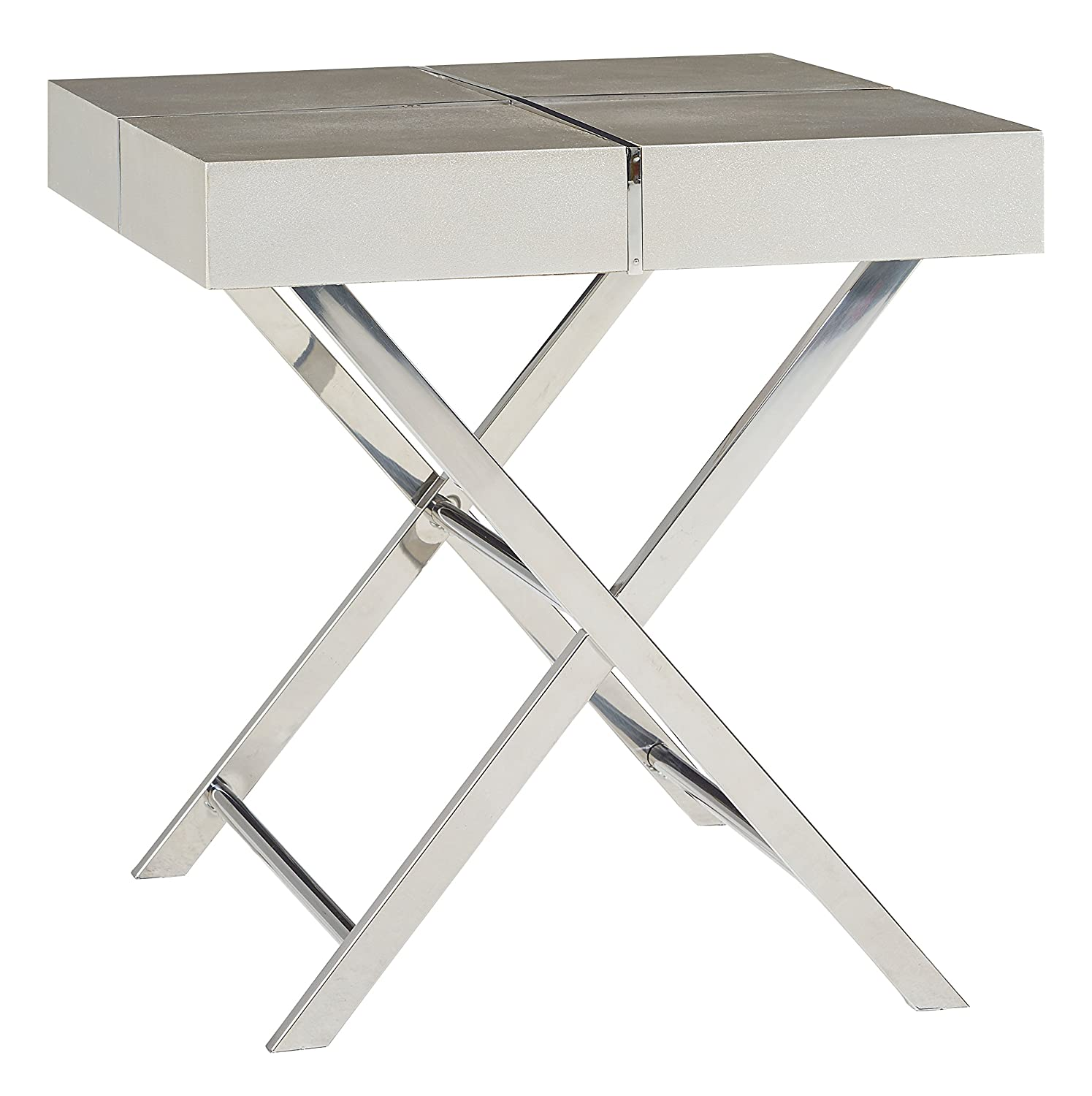 Awesome Standard Furniture 29612 Ava Silver End Table Alphanode Cool Chair Designs And Ideas Alphanodeonline