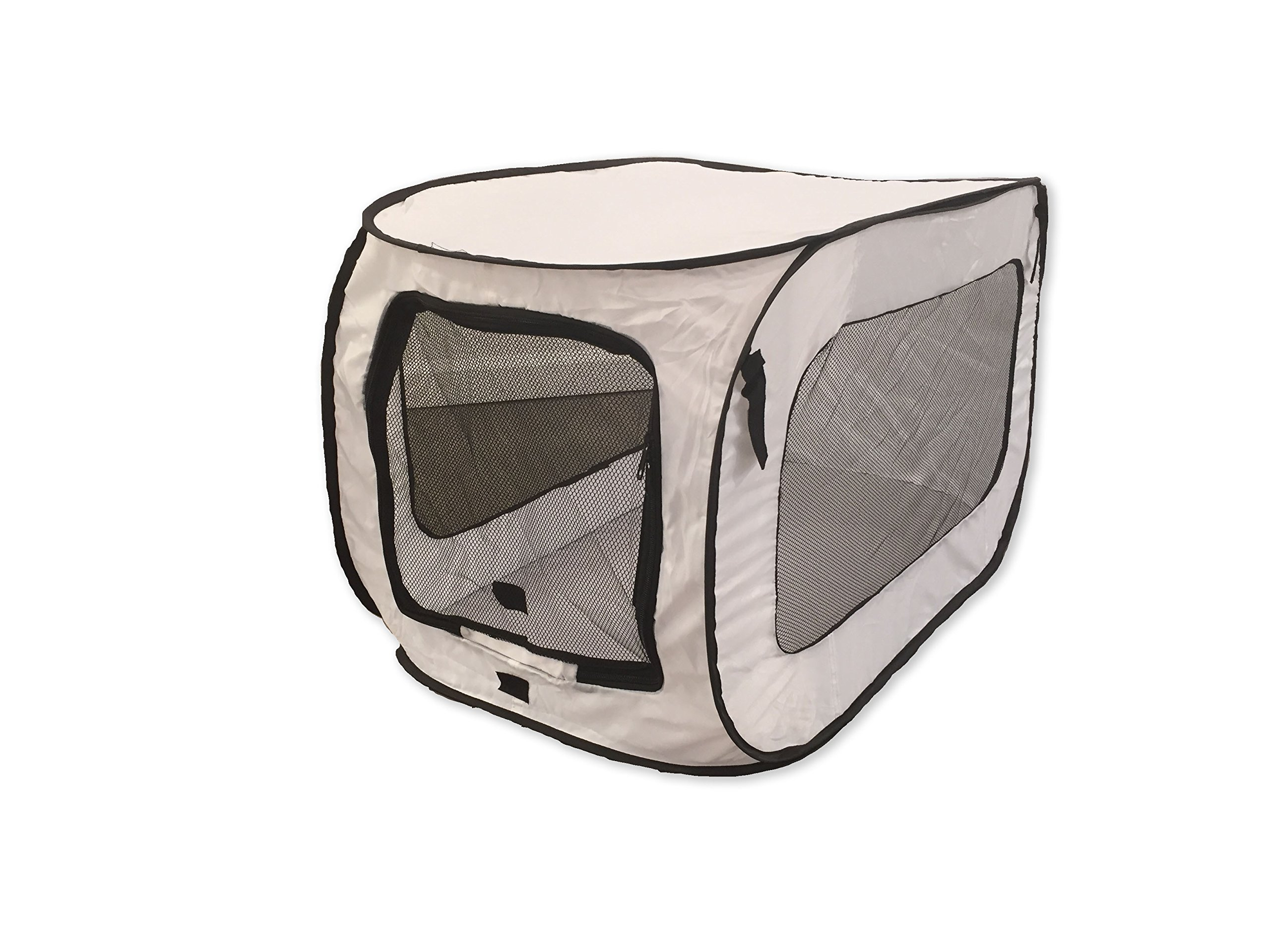 Beatrice Home Fashions SOLPPK00WHT POP UP PET Kennel, White
