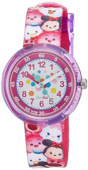 Flik Flak Reloj Análogo clásico para niñas de Cuarzo con Correa en Tela FLNP026: Amazon.es: Relojes