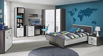 Jugendzimmer Set Hey Kleiderschrank Bett Nachttisch