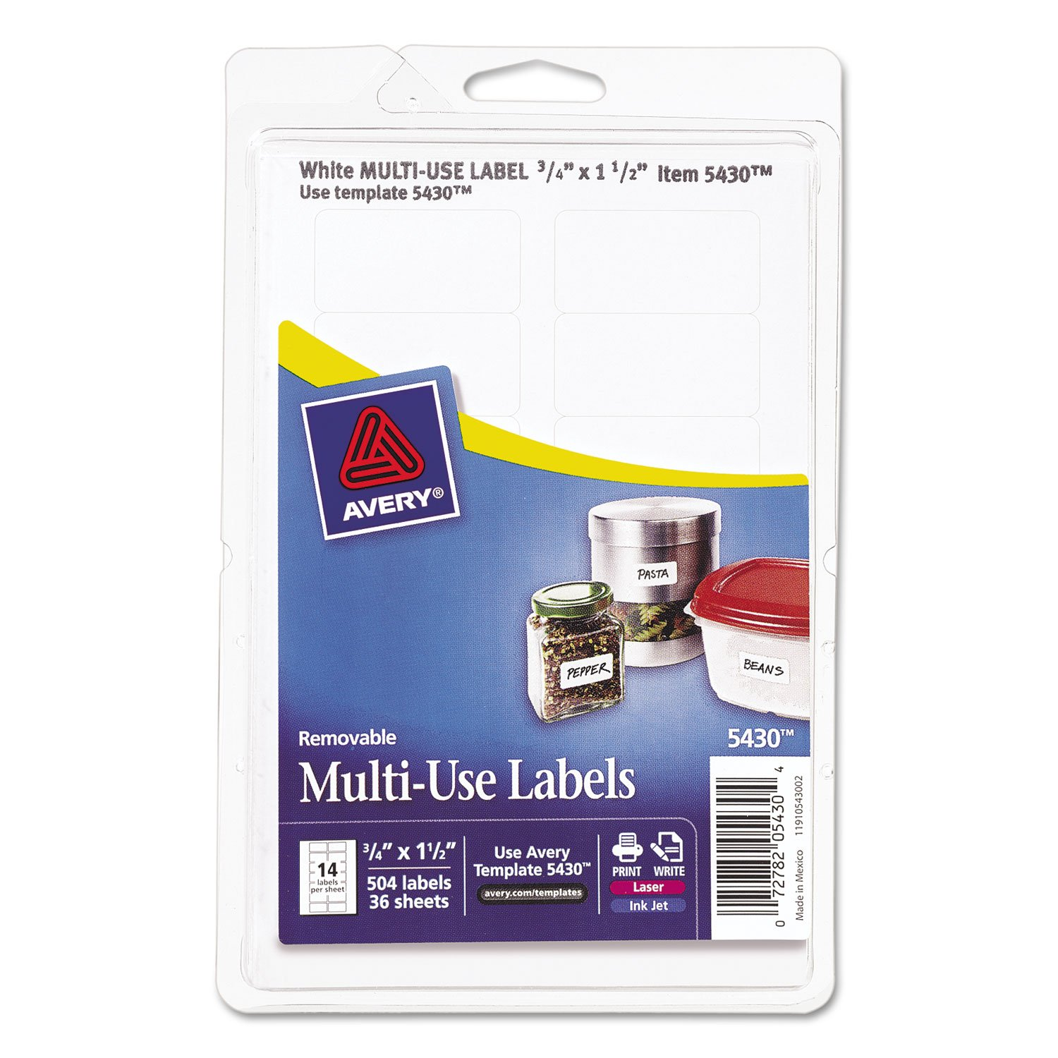 avery removable multi use labels 3 4 x 1 1 2 white 504 pack doba