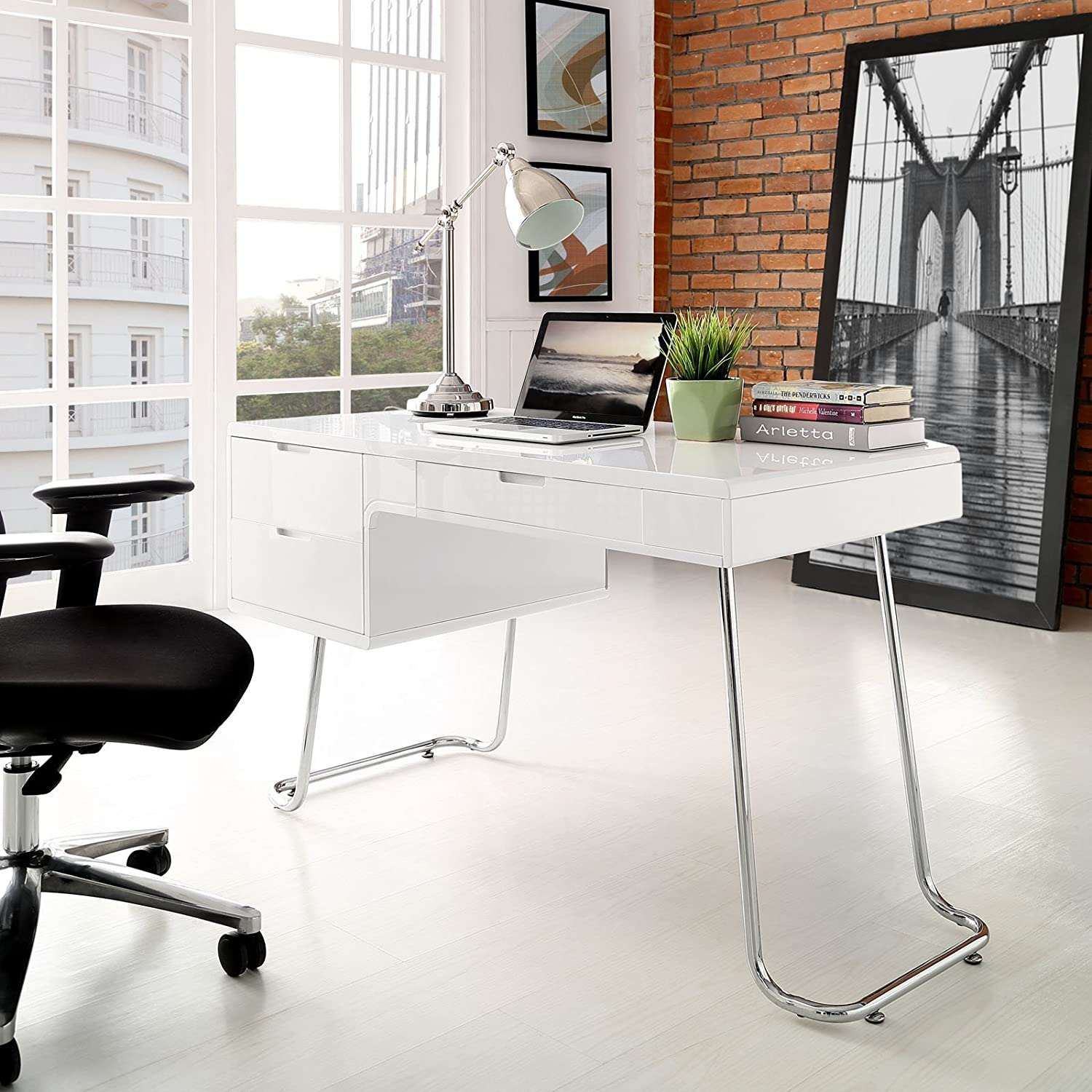 modern white office desk. modern white office desk