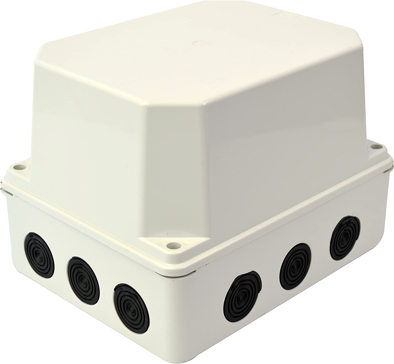 Carcasa de plástico Carcasa de instalación 12 entradas de diafragma | IP65 | 243x190x155 mm | de superficie Caja de distribución Caja de conexiones Caja de conexiones Caja de conexiones Caja de