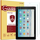 [2-Pack] OMOTON Screen Protector for Fire HD 10 / Fire HD 10 Kids Edition, Tempered Glass/HD / 9H Hardness