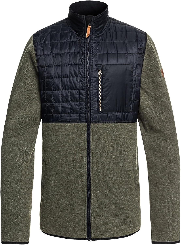 Quiksilver Men's INTO The Wild Fleece Jacket, Grape Leaf, XL: Clothing