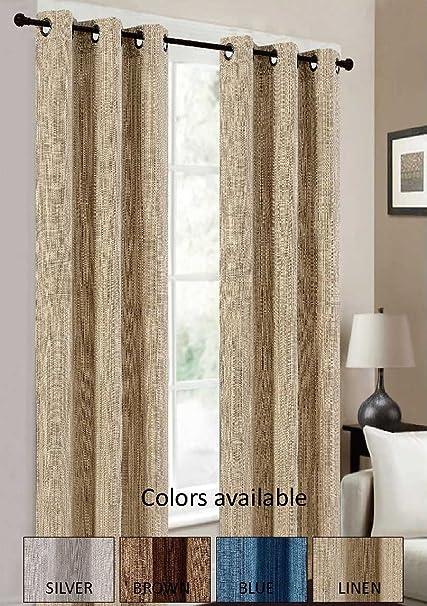 Le Benton Elegant Window Curtains Genuine Fabric Texture2 Panels