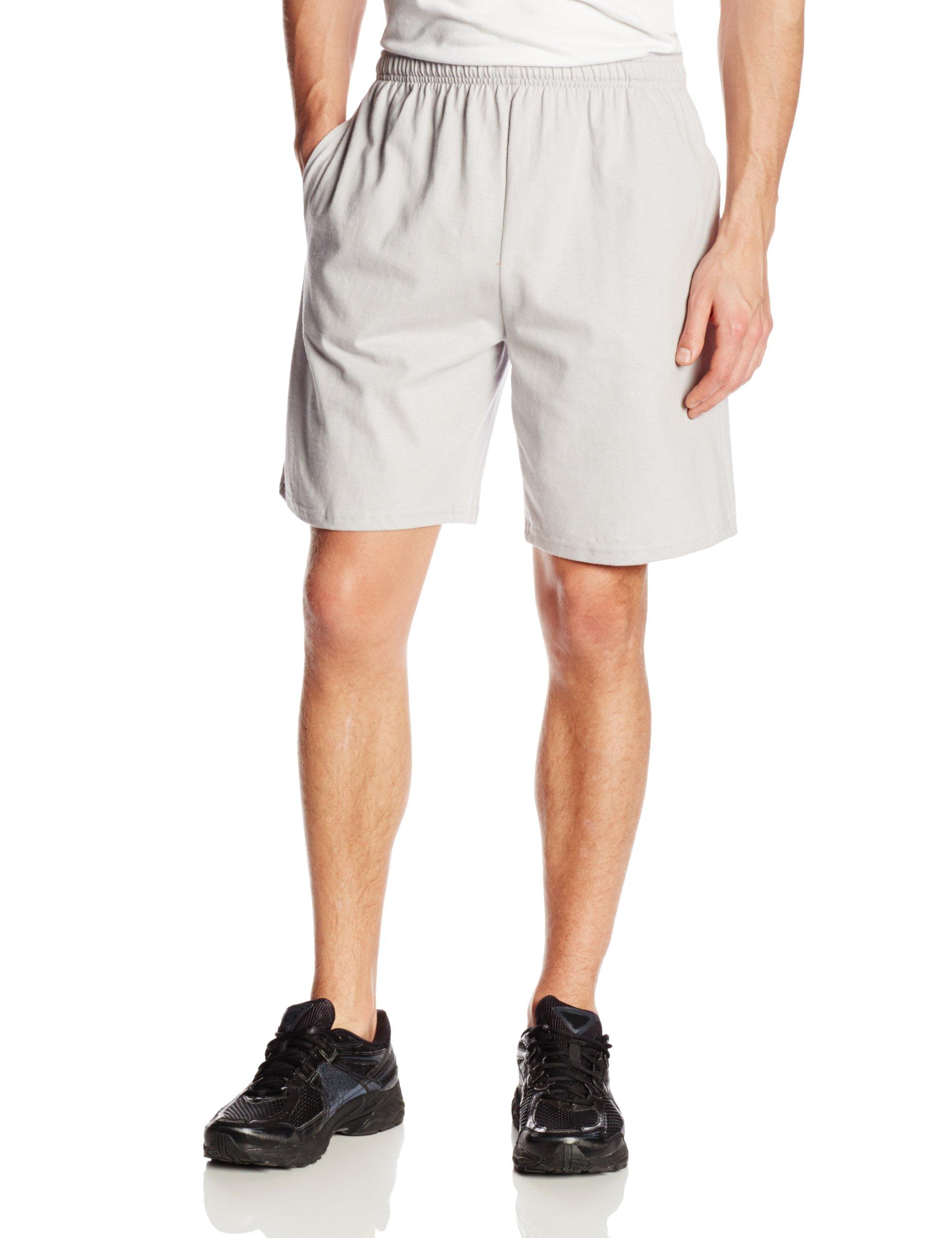 Soffe Men's Classic Cotton Pocket Short Light Grey Medium