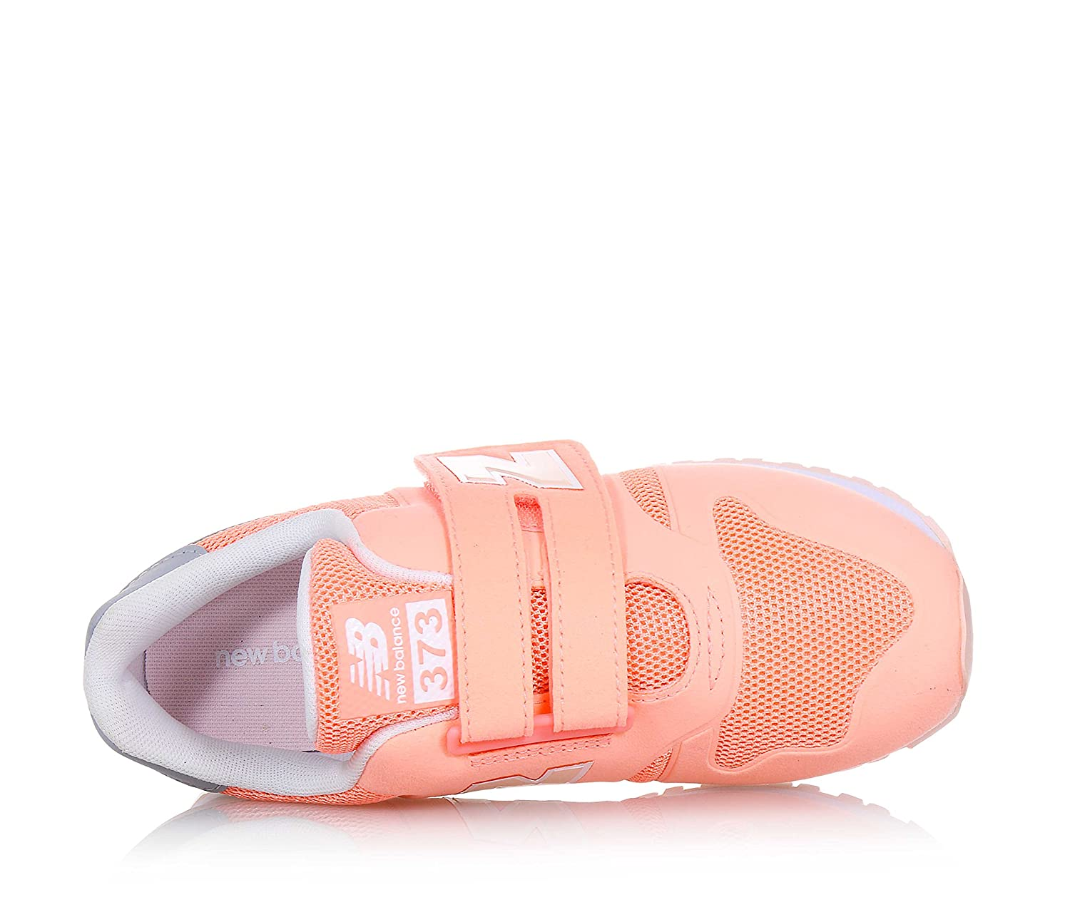New Balance Children Girls 373 Trainers in Coral Hook and