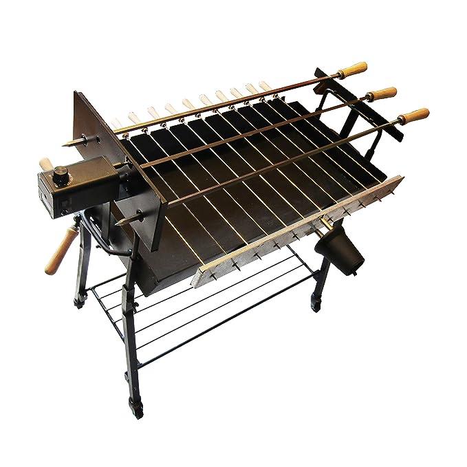 Amazon.com: InLine Chipre Charcoal Grill, foukou, con una ...