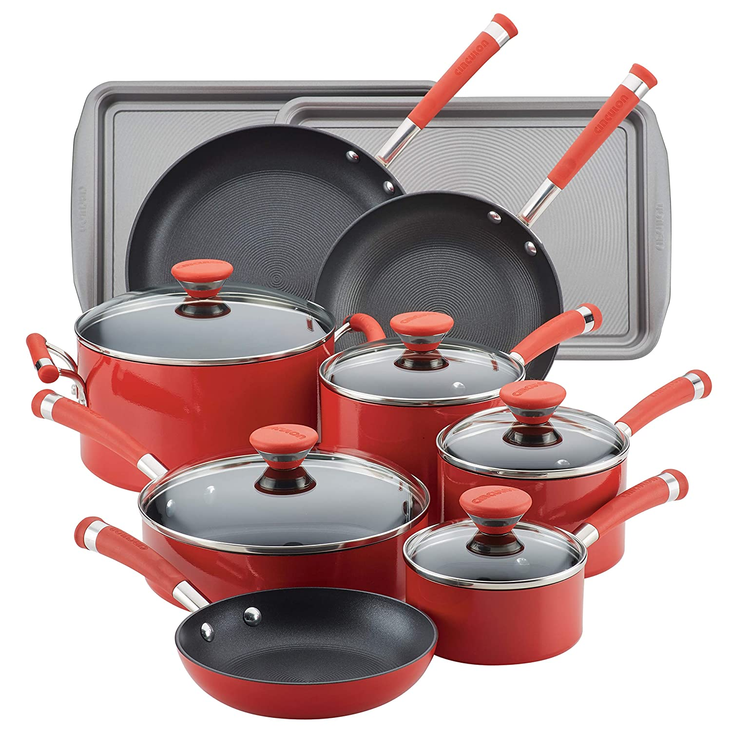 Circulon Acclaim Aluminum Nonstick Cookware Set, 15-Piece
