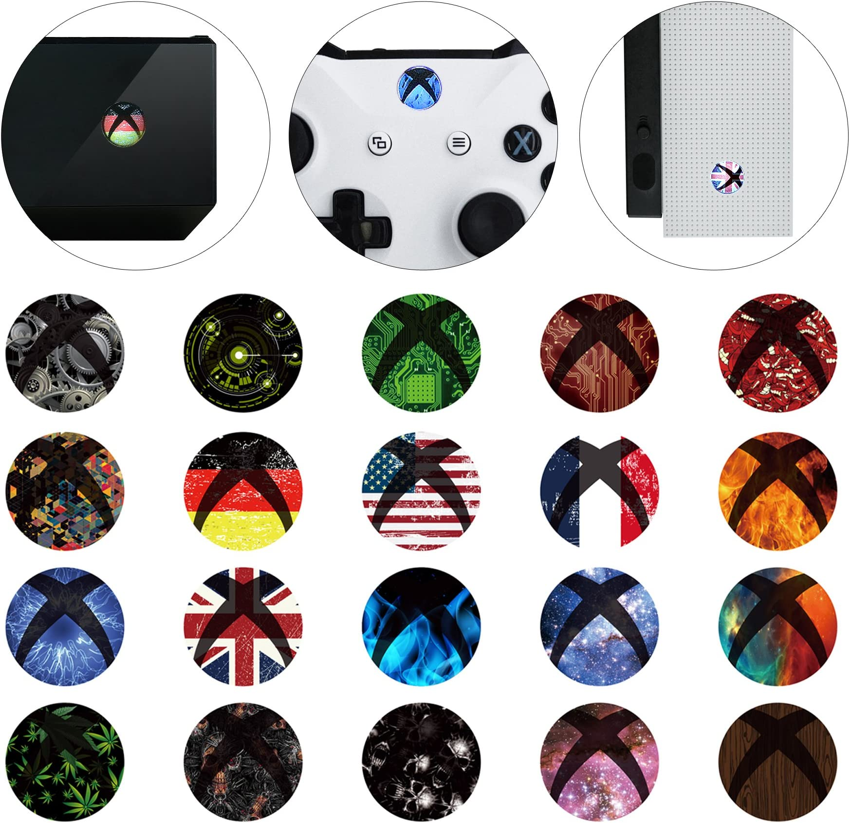 Sticker Decal Bright Xbox One Elite Controller Skin Kit Black Penny