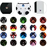 eXtremeRate 60 Pcs Home Button Power Switch Aufkleber Sticker Skin Cover für Xbox One/One S Konsole Kinect und Xbox One/One S/One X/Elite Controller(Polychrome)