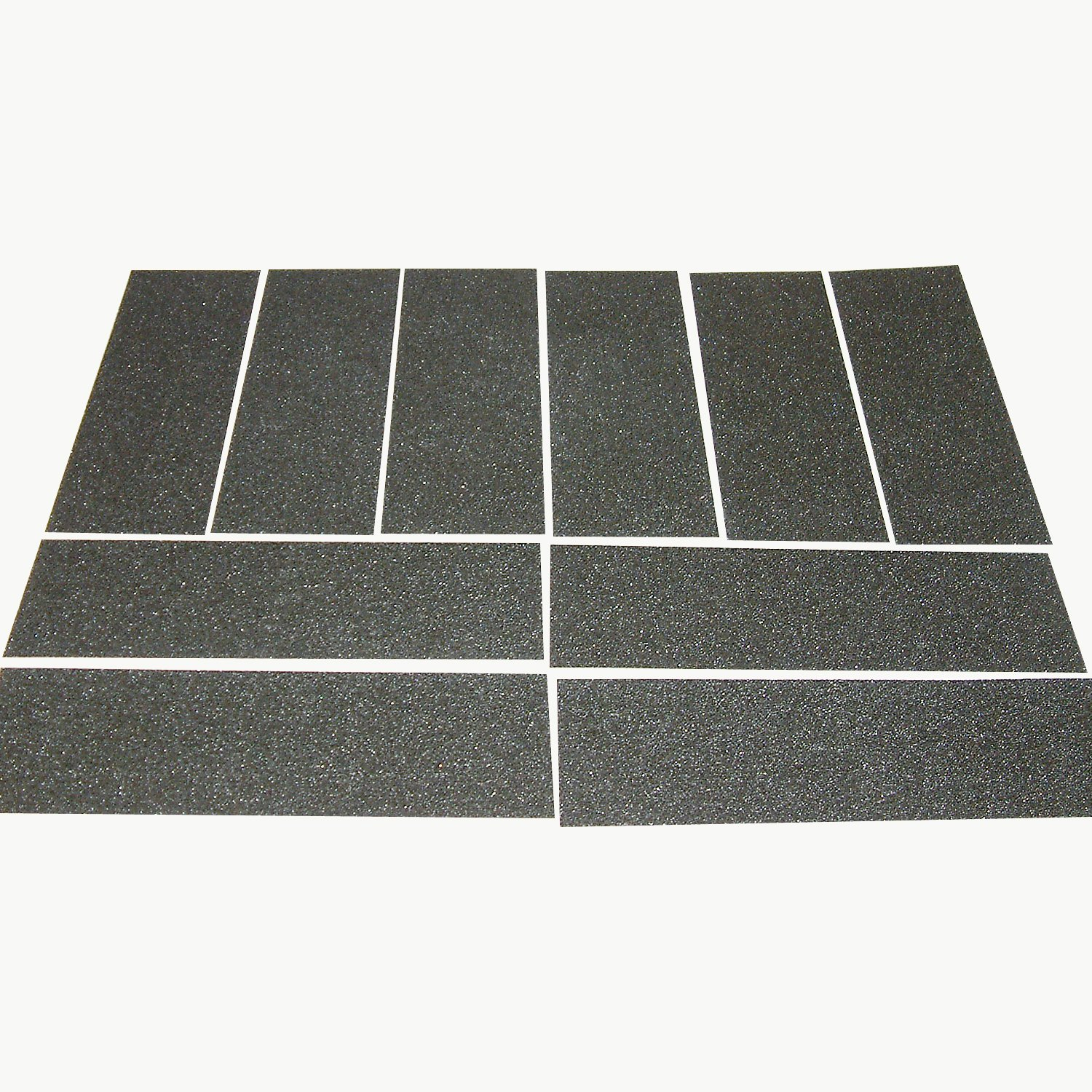 JVCC NS-S Non-Skid Strips: 4 in. x 12 in. (Black) [10 Strips/Pack]