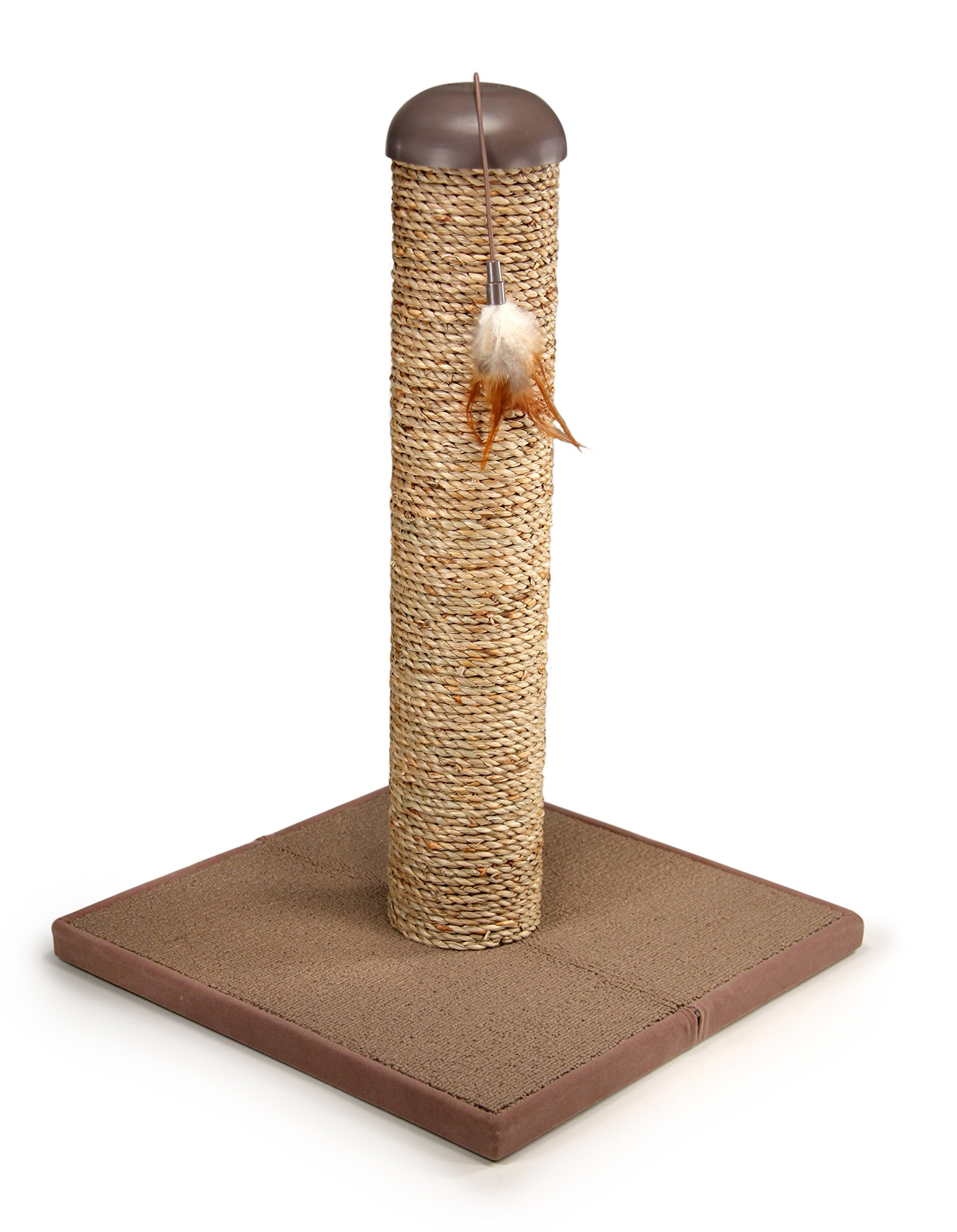 SmartyKat SeaColumn Seagrass Cat Scratch Post with Snap2It Toy by SmartyKat