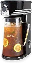 Nostalgia CI3BK Café Iced Coffee and Tea Brewing System, Glass Pitcher, 3 Quart, Black