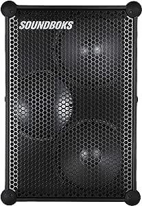 De nieuwe SOUNDBOKS - De luidste draagbare Bluetooth-luidspreker met oplaadbare batterij - Waterbestendig - Tot 126 dB volume - Volledig draadloos - Duurzaam - Levensduur batterij 40 uur - Zwart