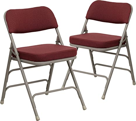 Silver//Grey Set of 2 Chicreat Camping Folding Chairs with Upholstery