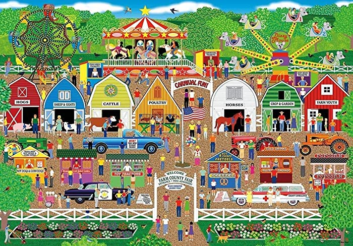 Farm County Fair, Home Country Collection 1000 Piece Jigsaw Puzzle by Artist: Mark Frost
